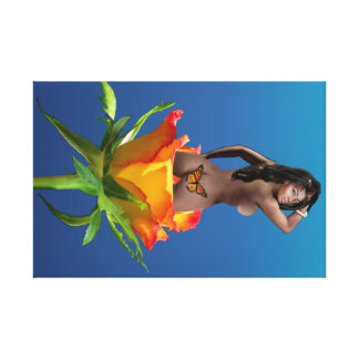 Black Beauty of the Rose Canvas Print
