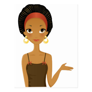 Black beauty postcard