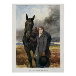 Black Beauty poster - Sewell book painting