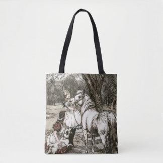 Black Beauty Sewell book painting Merrylegs Tote Bag