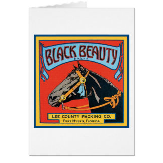 Black Beauty Vintage Crate Label - Horse Card