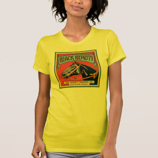 Black Beauty Vintage Crate Label - Horse Shirt