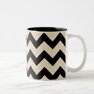 Black & Beige Zig Zag Mug