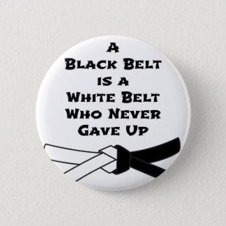 Black Belt 6 Cm Round Badge