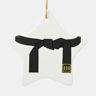 Black Belt Ceramic Ornament