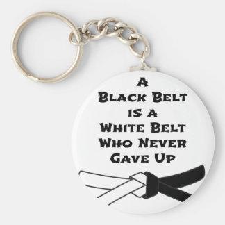 Black Belt Key Ring