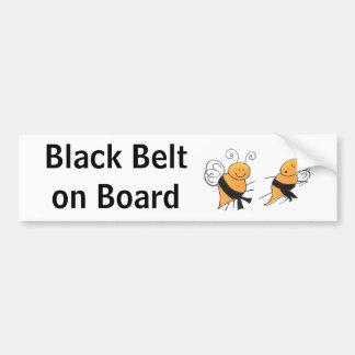 Black Belt on Board-bumper sticker Bumper Sticker