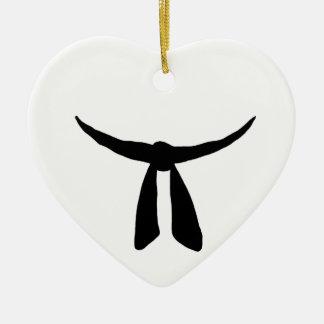 Black Belt Party Ceramic Heart Decoration