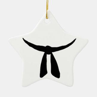 Black Belt Party Ceramic Star Decoration