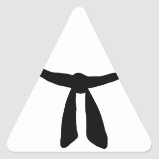 Black Belt Party Triangle Sticker