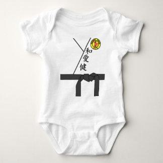 Black Belt Uniform Karate Master Halloween Costume Baby Bodysuit