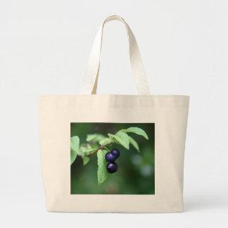 Black berried honeysuckle (Lonicera nigra) Large Tote Bag