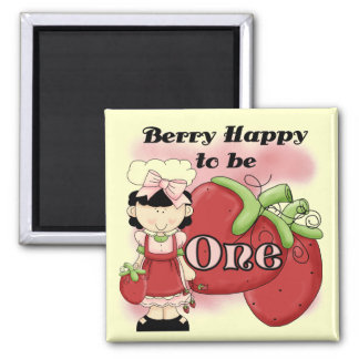 Black Berry 1st Birthday T-shirts and Gifts Square Magnet