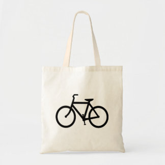 Black Bike Route Budget Tote Bag
