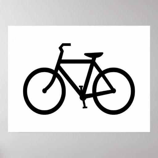Black Bike Route Print