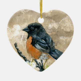 Black Bird Ceramic Ornament