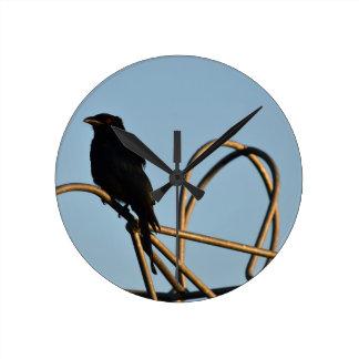 BLACK BIRD METELLIC STARLING AUSTRALIA CLOCK
