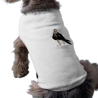 Black bird predator aggressive hawk sleeveless dog shirt
