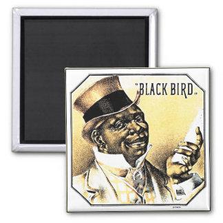 Black Bird Vintage Cigar Box Art Magnet