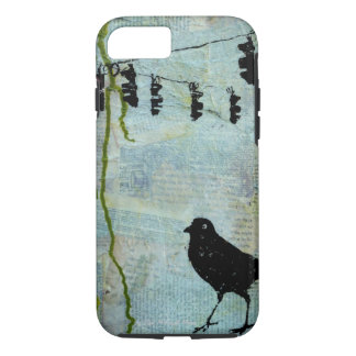 "Black Bird with Stoplight ""eccentric caricature"" iPhone 8/7 Case"