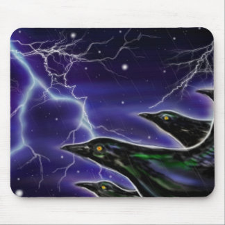Black Birds in Storm-mouse pad Mouse Pad