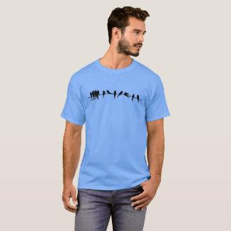 Black Birds on a Line T-Shirt