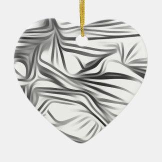 Black blank prints Black White prints plant Ceramic Heart Decoration