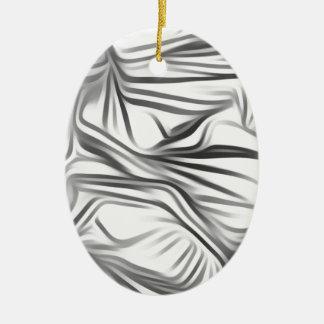 Black blank prints Black White prints plant Ceramic Oval Decoration