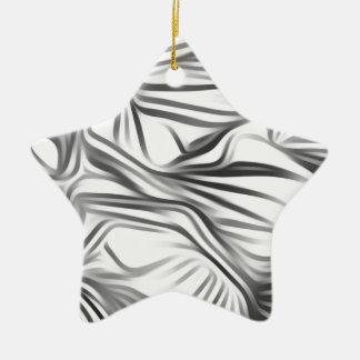 Black blank prints Black White prints plant Ceramic Star Decoration