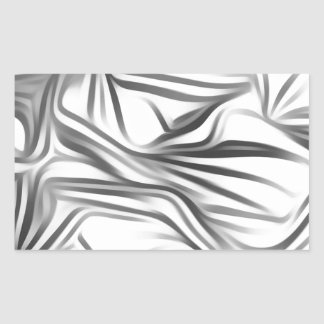 Black blank prints Black White prints plant Rectangular Sticker