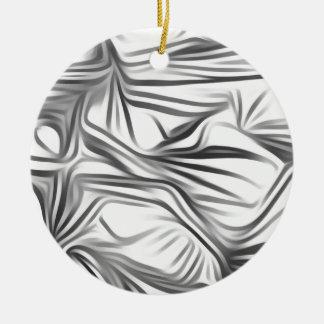 Black blank prints Black White prints plant Round Ceramic Decoration