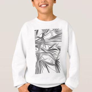 Black blank prints Black White prints plant Sweatshirt