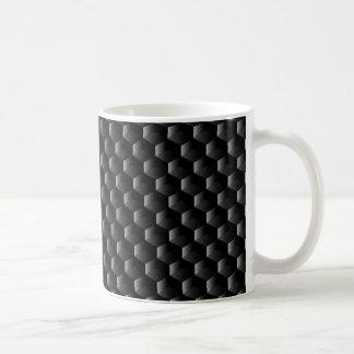 Black block mesh coffee mug