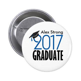 Black & Blue 2017 Graduate Pinback Button