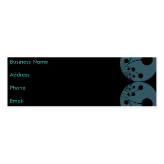 Black & Blue Abstract Business Card