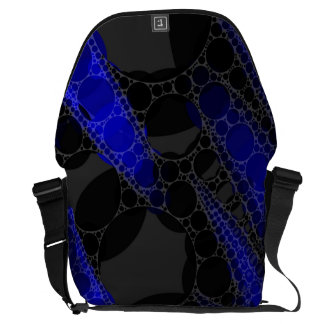 Black Blue Abstract Messenger Bags