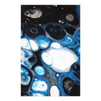 Black & Blue Bubbles Stationery