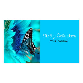 Black & Blue Butterfly Business Cards
