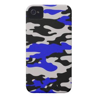 BLACK & BLUE CAMO iPhone 4 COVERS