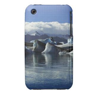 Black & Blue Icebergs, Iceland Case-Mate iPhone 3 Cases