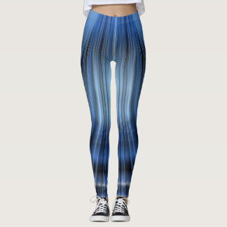 Black & Blue Leggings-Modern Design Leggings