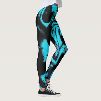 "Black & Blue Leggings - ""When 2 Blues Meet Black"""