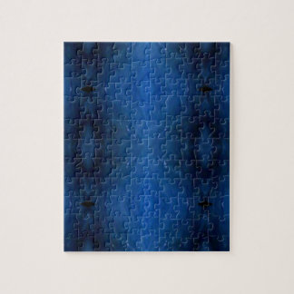 Black Blue Personalizable Pattern For Guys Jigsaw Puzzle