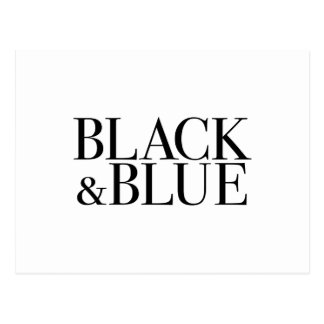 Black & Blue Postcard
