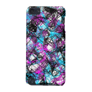 Black, Blue & Purple Splatter iPod Touch Case