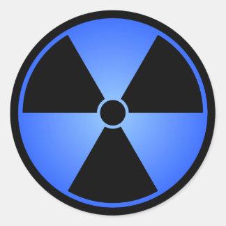 Black & Blue Radiation Symbol Sticker