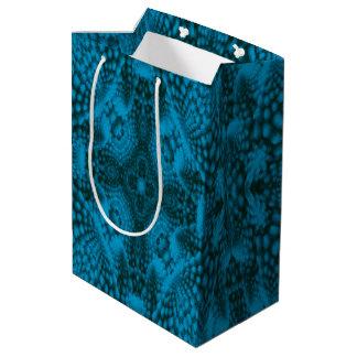 Black & Blue Vintage Kaleidoscope Medium Gift Bag