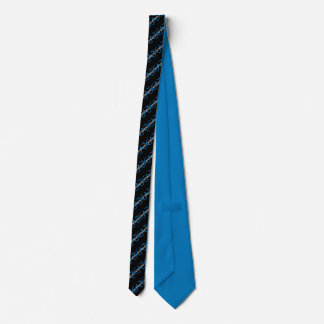 Black, Blue & White Striped CATENCODE Tie