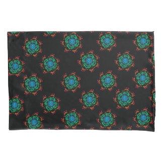 Black Boho Pillowcase, Standard Size Pillowcase