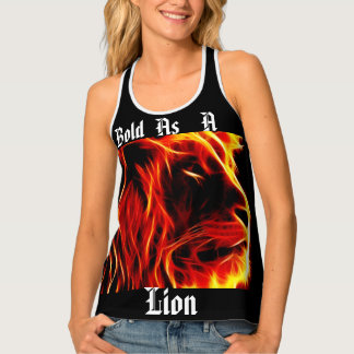 Black Bold as a lion tant top. Singlet